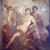 Italy  Naples  Naples Museum  from Pompeii  House of Mars an Venus (VII  9  47)  Mars and  Venus