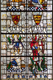 England  Salisbury  Salisbury Cathedral  Stained Glass Window  Saint Andrew and Saint George