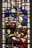 England  Somerset  Bath  Bath Abbey  West Side  Stained Glass Window  Pentateuch Window