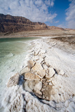 Middle East  Israel  Dead Sea salt on coast and in water