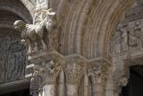 Spain  Santiago de Compostella  Cathedral of Santiago de Compostella  Columns with Flower Motives
