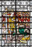England  Salisbury  Salisbury Cathedral  Stained Glass Window  David and Goliath