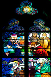 Prague  St Vitus Cathedral  Window in the New Archbishop Chapel  Mucha Stained Glass Window