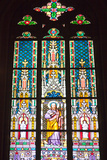 Prague  St Vitus Cathedral  Stained Glass Window  St Thomas
