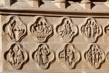France  Amiens Cathedral (World Heritage Site)  West Facade  Right Portal  Quatrefoil Medallions