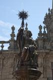 Spain  Santiago de Compostella  Cathedral of Santiago de Compostella  Southern Facade  Fountain Top