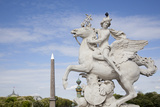 France  Paris  Tuileries Garden  Statue of Hermes (Mercury) with Pegasus