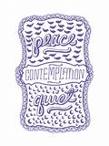 Venn by Pen: Peace  Quiet  Contemplation