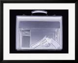Handgun In Briefcase  Simulated X-ray