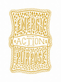 Venn by Pen: Energy  Purpose  Action Poster