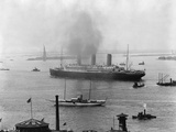 The SS Imperator in New York Harbor