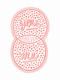 Venn by Pen: You  Me  Forever Poster