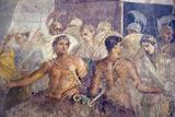 Italy  Naples  Naples Museum  from Pompeii  House of the Tragic Poet  Reg VI  Achilles and Briseis