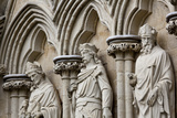 England  Salisbury  Salisbury Cathedral  West Front  Religious Marble Sculptures