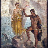 Italy  Naples  Naples Museum  from Pompeii  House of the Dioscuri (VI  9  6)  Perseus and Andromeda