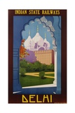 Visit India - Indian State Railways  Delhi Poster