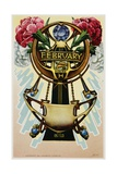 February - Pisces Postcard
