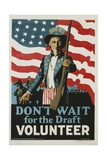 Don't Wait for the Draft  Volunteer Recruitment Poster