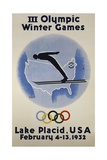 III Olympic Winter Games Poster