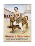 Poster Advertisement for Hercules P Coutalianos