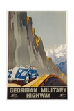 Georgian Military Highway Poster