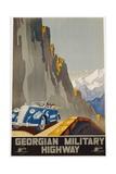 Georgian Military Highway Poster