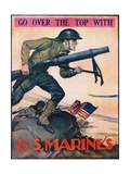 Go over the Top with the US Marines Recruitment Poster