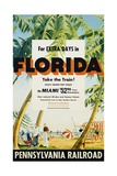 Florida  Pennsylvania Railroad Poster
