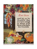 Eat Less and Let Us Be Thankful Giclée