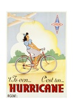 Hurricane Bicycle Advertisement Poster