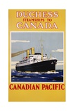 Duchess Steamships to Canada Poster