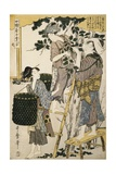 Print Depicting Women Picking Mulberry Leaves from Silkworm Culture