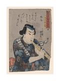 Goshaku Somegoro Playing Shakuhachi