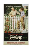 Food Fights for Victory  Plant a Victory Garden Poster