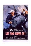 Sub Spotted - Let 'Em Have It! US Navy Recruitment Poster