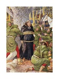 The Abbot of Saint Maries Taken by Robin Hood Book Illustration