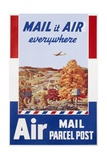 Air Mail Parcel Post Poster