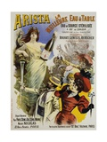 Arista Mineral Water Advertisement Poster
