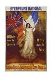 Allies Dans La Guerre Poster