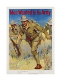 Men Wanted for the Army Recruitment Poster