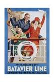 Batavier Line Travel Poster