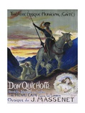 Poster for Jules Massenet's Opera Don Quichotte