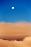 Moon and Livingstone Island  Antarctica