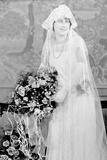 Bride in Her Wedding Gown  Ca 1924