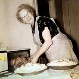 Grandma Cooks in the Kitchen  Ca 1952