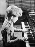 Boy Practicing Piano