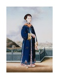 Portrait of an Elegantly Dressed Chinese Hong Merchant's Wife
