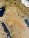 Satellite View of the Middle East