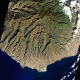 Satellite View of Gran Canaria  in the Canary Islands