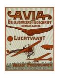 Avia Geillustreerd Tijdschrift Poster